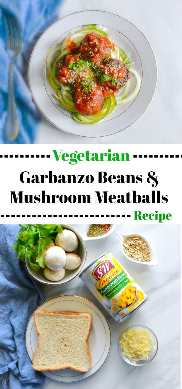 Vegetarian Garbanzo Beans And Mushroom Meatballs