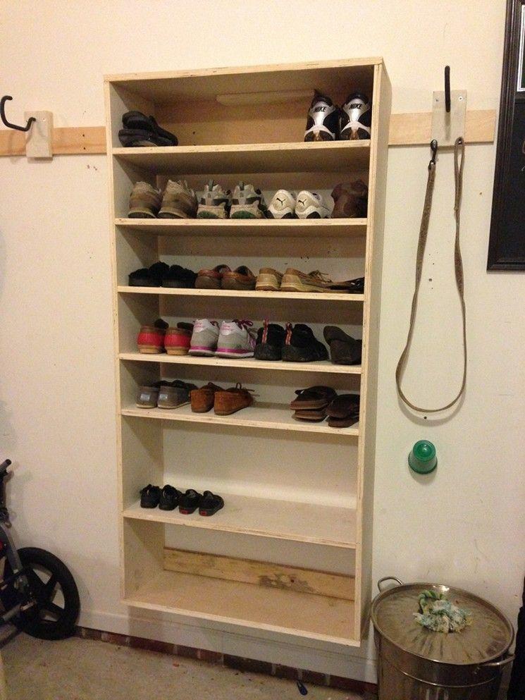 Homemade Shoe Rack For Garage Pictures Homemadeshoerack Wall