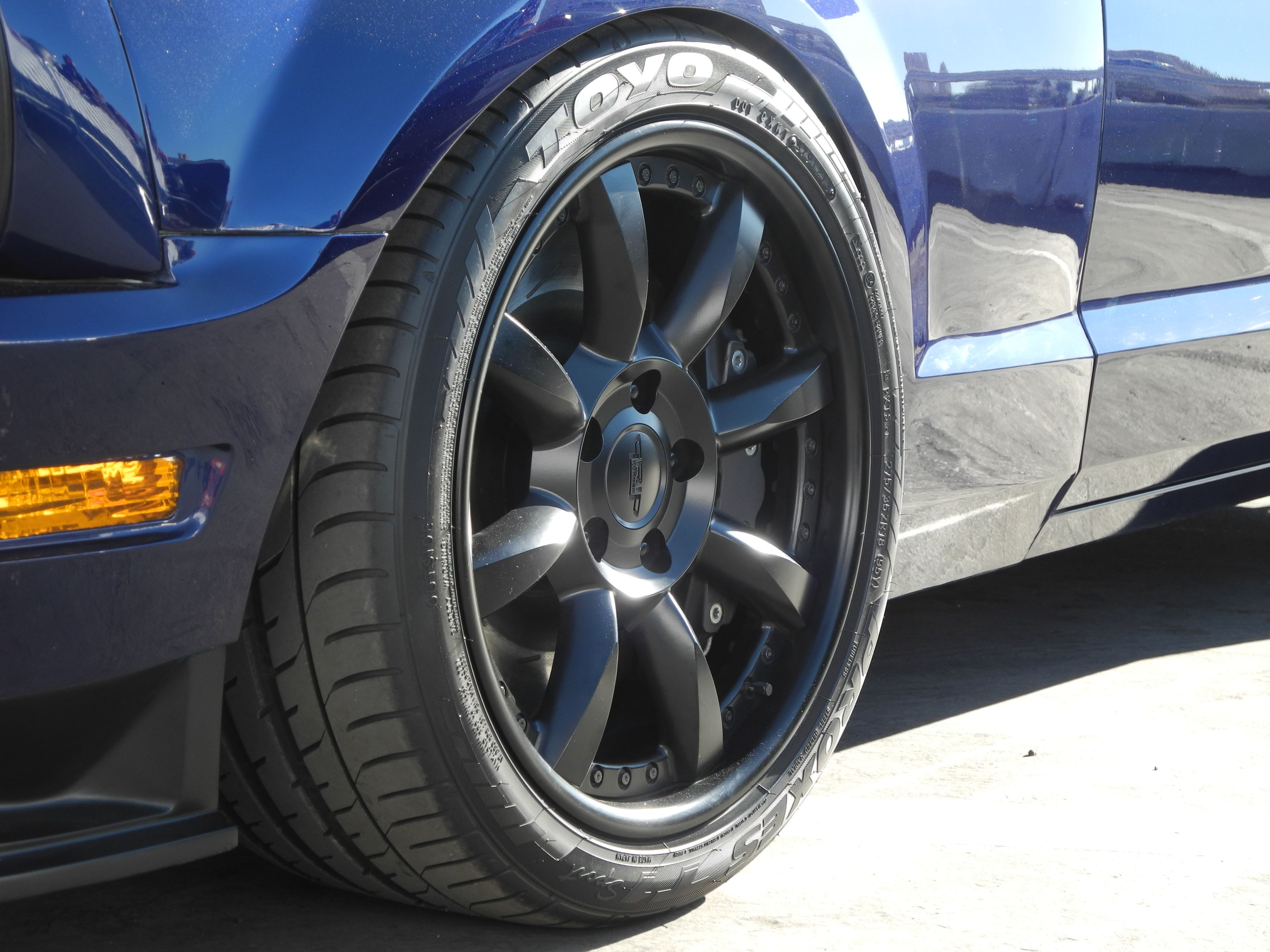 Brett Behren's V10-powered Mustang Evolution on Grip Equipped Laguna wheels finished in Satin Black. Built by A-Team Racing SEMA Be Cool Bomber Project. See more at: http://www.forgeline.com/customer_gallery_view.php?cvk=1225 #Forgeline #GripEquipped #Laguna #notjustanotherprettywheel #madeinUSA #Ford #Mustang