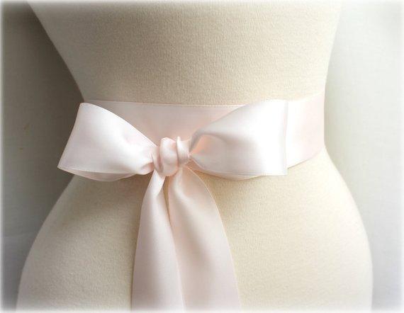 Silver Double Faced Satin Ribbon Sash Bridal Wedding Bridesmaid Brand New