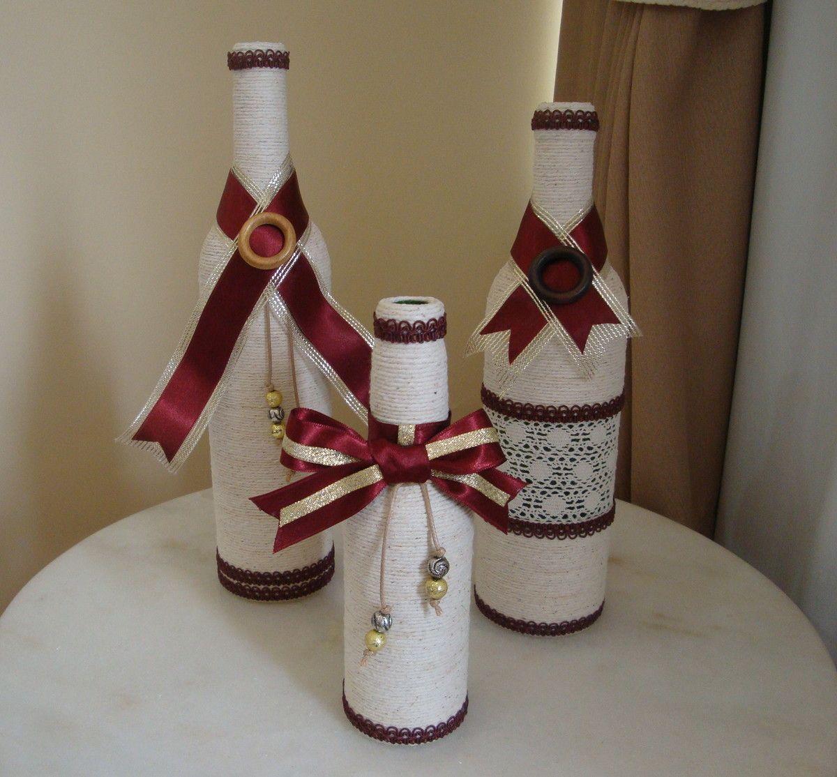 Resultado de imagen para botellas decoradas con