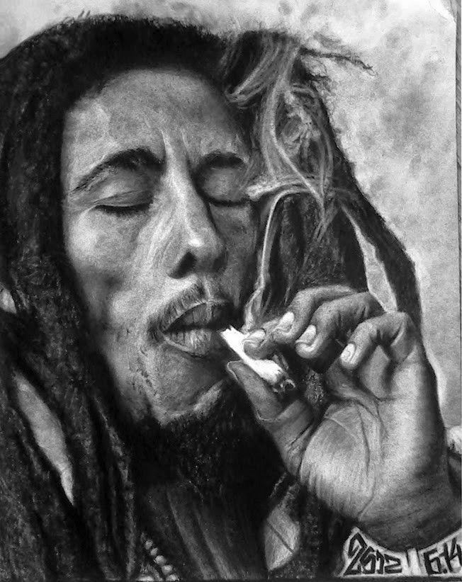 Боб марли курит картинки
