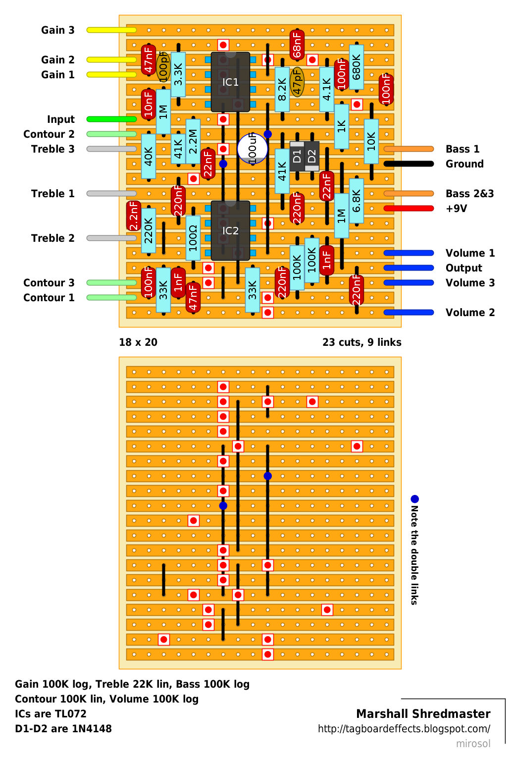 Marshall-Shredmaster.png (1032×1534) | guitar pedal schematic ...