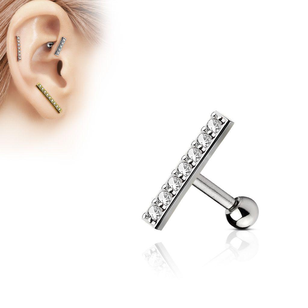 Reverse ombligo ornament piercing ombligo Aqua plata 925