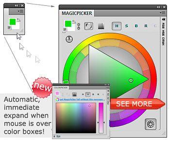 Magicpicker Color Wheel Colorpicker Panel For Adobe Illustrator And