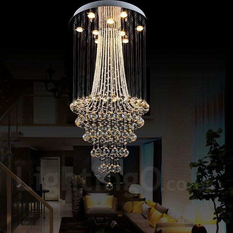 9 Lights Modern Led Crystal Ceiling Pendant Light Indoor
