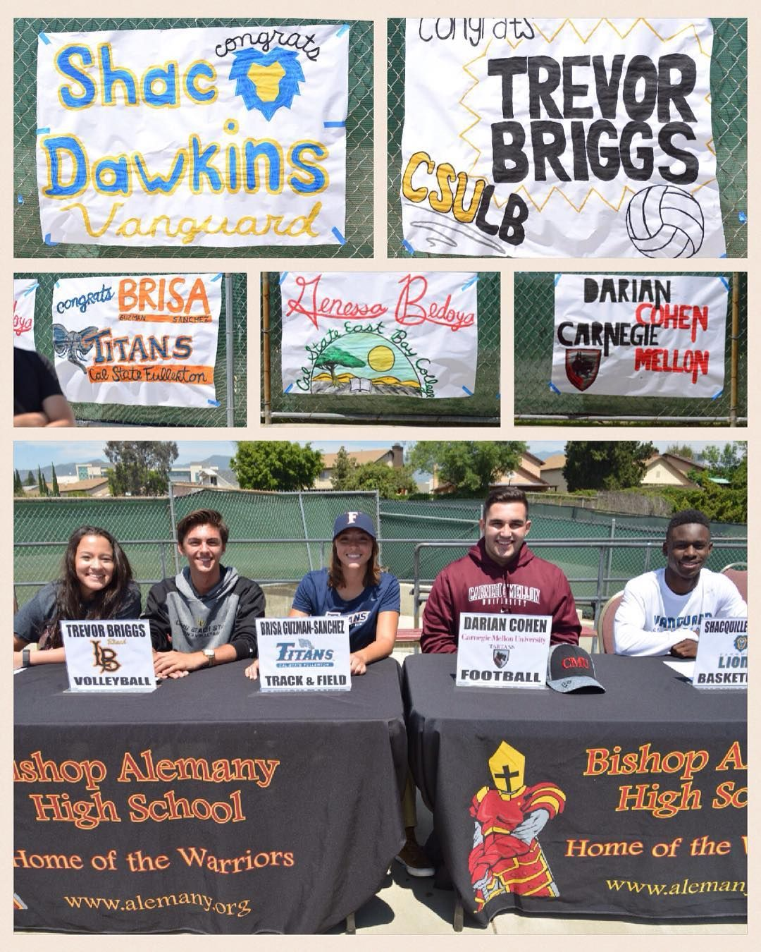 Five Student Athletes Signed With Colleges Today Genessa Bedoya Basketball Cal State East Bay Trevor Briggs Volleyball Cal State Student Athlete