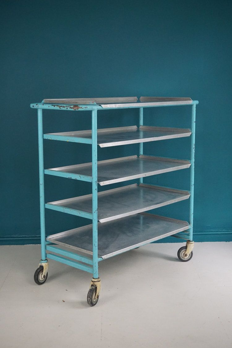 Industrial 5 tier metal bakers trolley. Perfect in the kitchen for ...