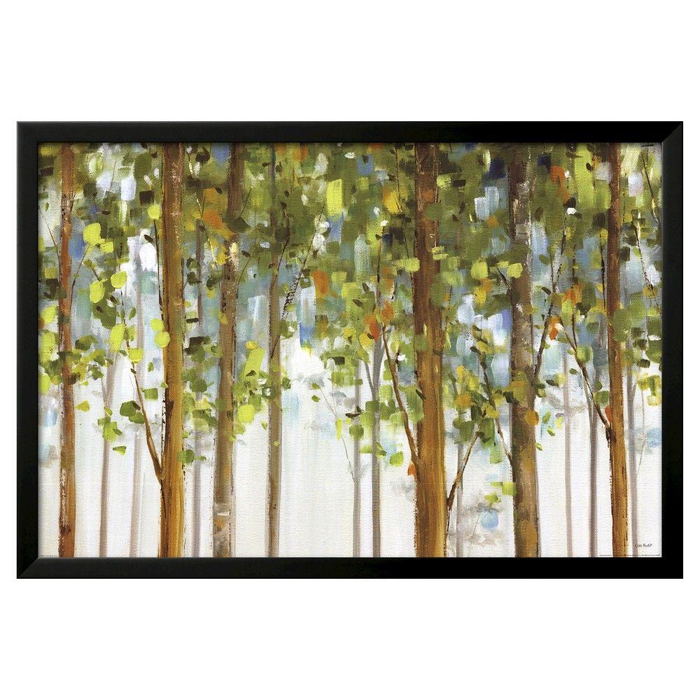 Forest Study I Crop by Lisa Audit, Black Wood Framed Art Print, Green