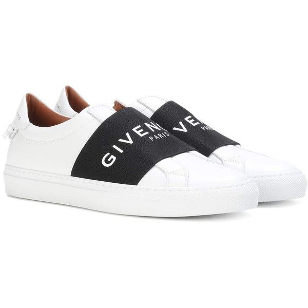 4a785eb1cf0 Givenchy Urban Street Leather Sneakers ( 705) ❤ liked on Polyvore featuring  shoes
