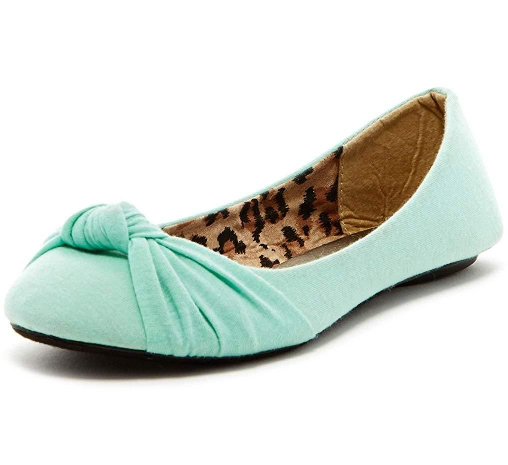 039d59e2fbb76 Charles Albert Women's Knotted Front Canvas Round Toe Ballet Flats ...