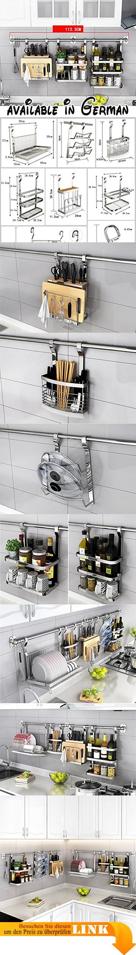 B078V26CNK : Küche Lagerung und Organisation Edelstahl Küchenregal ...