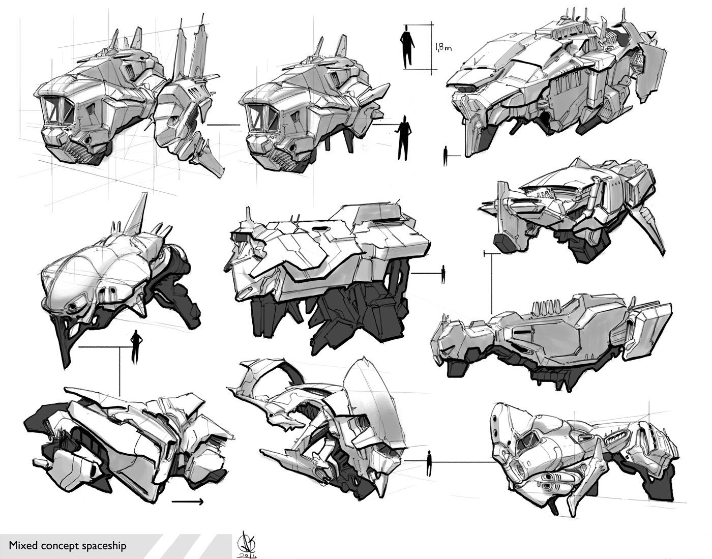 ArtStation - Space ship, David Sequeira