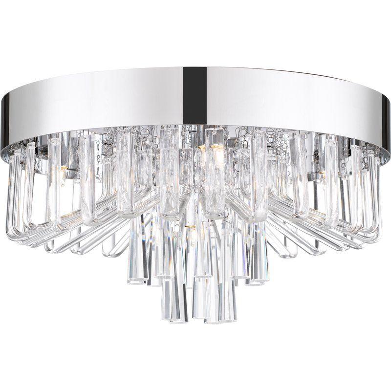 Orren Ellis Coletta 5 Light Flush Mount Wayfair Ceiling Lights Polished Chrome Flush Mount Ceiling