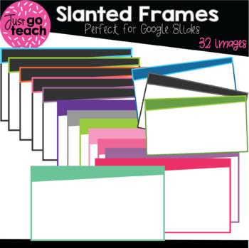 Set #34: Slanted Frames Set #1 for Google Slides {