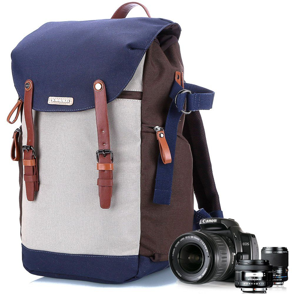Camera Backpack Bag Waterproof Lens Case Rucksack For DSLR Canon EOS Nikon