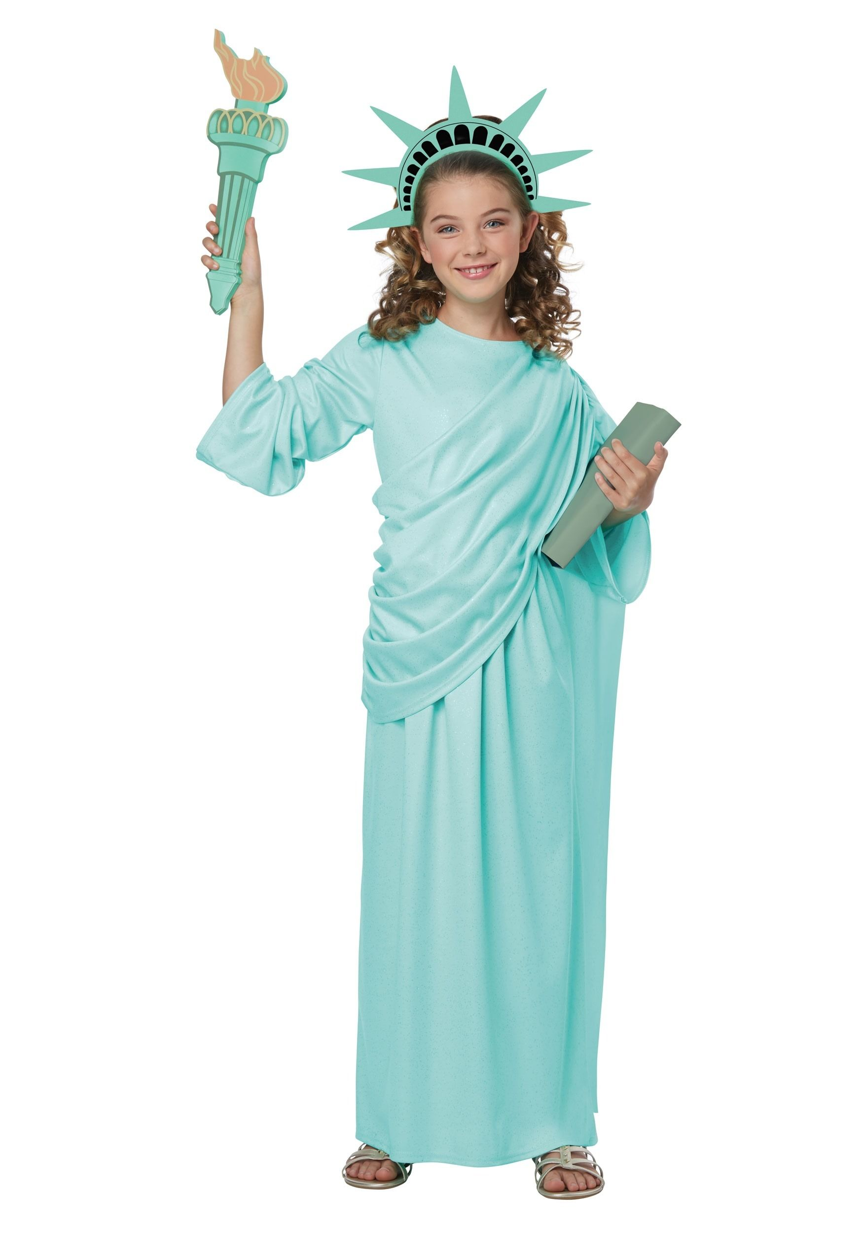 Girls Statue Of Liberty Costume Lady Liberty Costume Fancy Dress Costumes Halloween Costumes For Kids