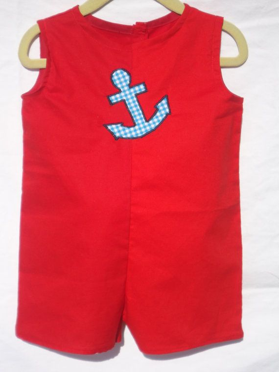 Nautical Collection Baby Boy Romper Anchor by LoopsyBaby