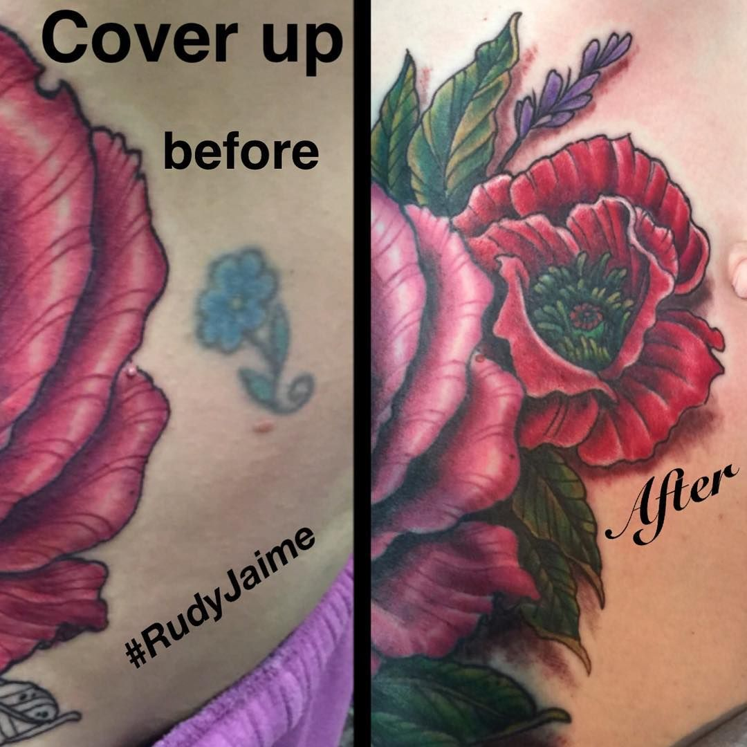 Fun cover up I got to do at the downtown Phoenix location