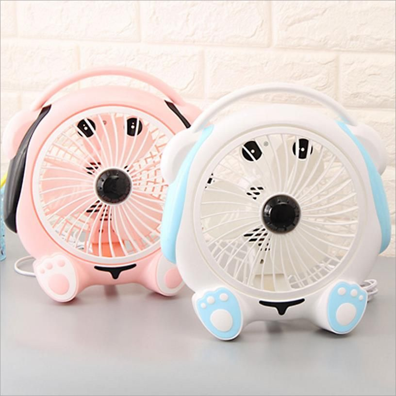 Cute Dog Blue Pink Ventilateur Desk Fan For Home Office Abs Electric Desktop Computer Fan 220 240v Ar Condicionado Air Conditioning Appliances Desk Fan Computer Fan Cute Dogs
