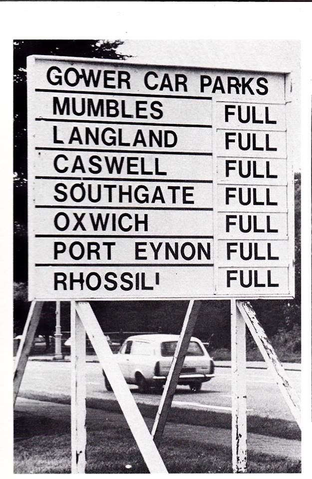 Old Gower Car Parks Sign Swansea Wales Northern Wales Wales