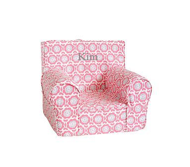 New Slip Cover For Emma S Chair Vivian Floral Coral And