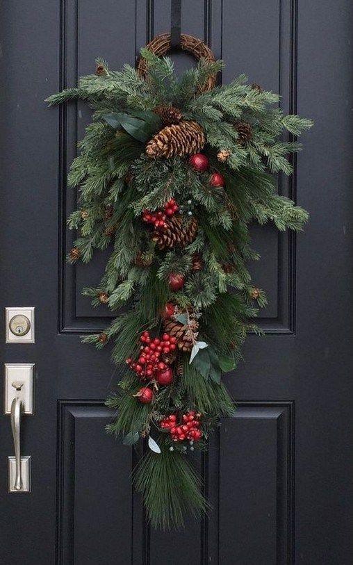 Cómo decorar tu puerta en Navidad (+ de 50 fotos d