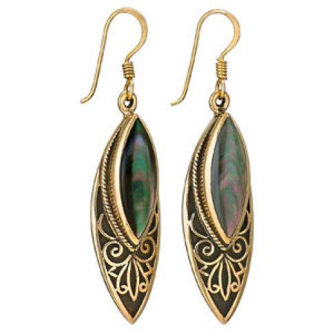 black mother of pearl earrings
