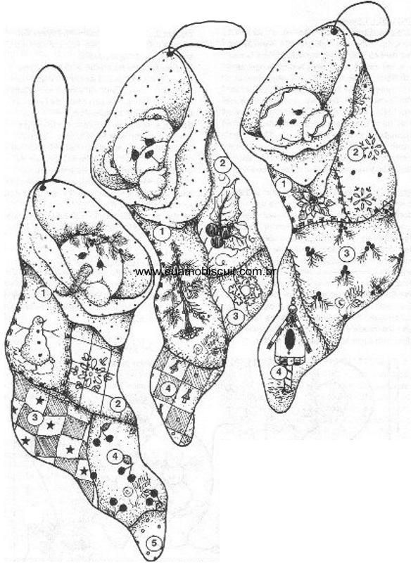 stockings | Christmas/Easter./Halloween | Pinterest | Navidad ...