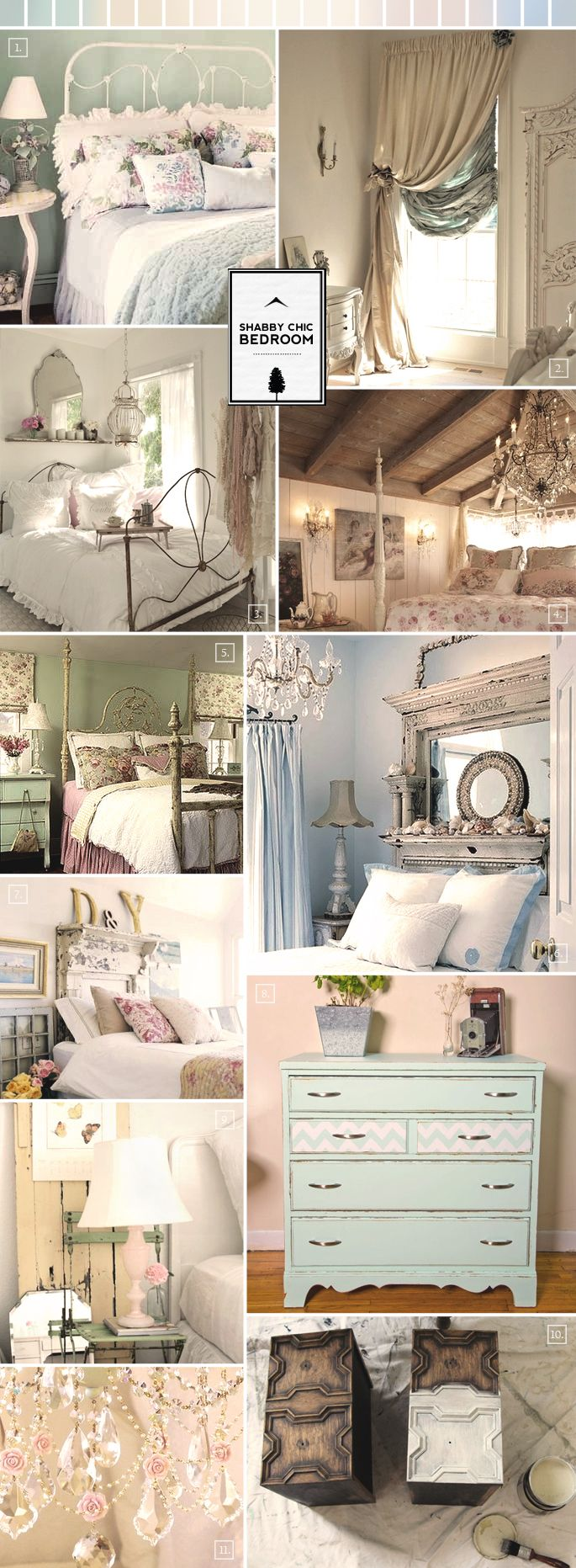 shabby chic bedroom ideas and decor inspiration - Shabby Chic Bedroom Decorating Ideas