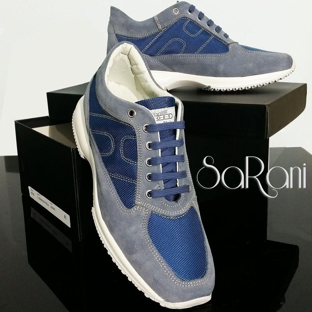 Scarpe Casual Sneakers Classiche Uomo Sportive Camoscio Blu FKlTJc1