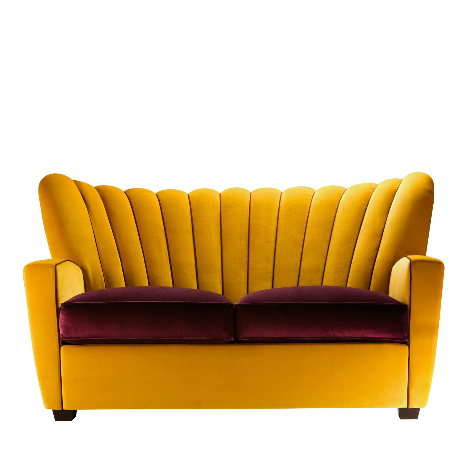 Zarina Eggplant Gold Sofa By Cesare Cassina Shop Adele C Online At Artemest Gold Sofa Eclectic Sofas Luxury Italian Furniture