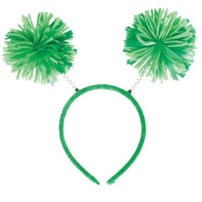 Green Pom Pom Head Bopper 10in X 9in In 2020 Christmas Party Supplies Kids Party Supplies Holiday Party Supplies