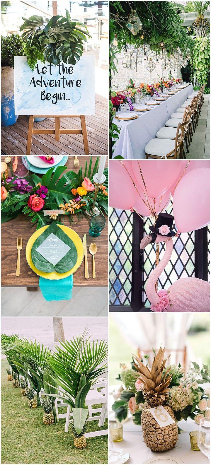Beach wedding decoration ideas  Ideas and Inspiration for your Boho Tropical Theme Wedding  Nye