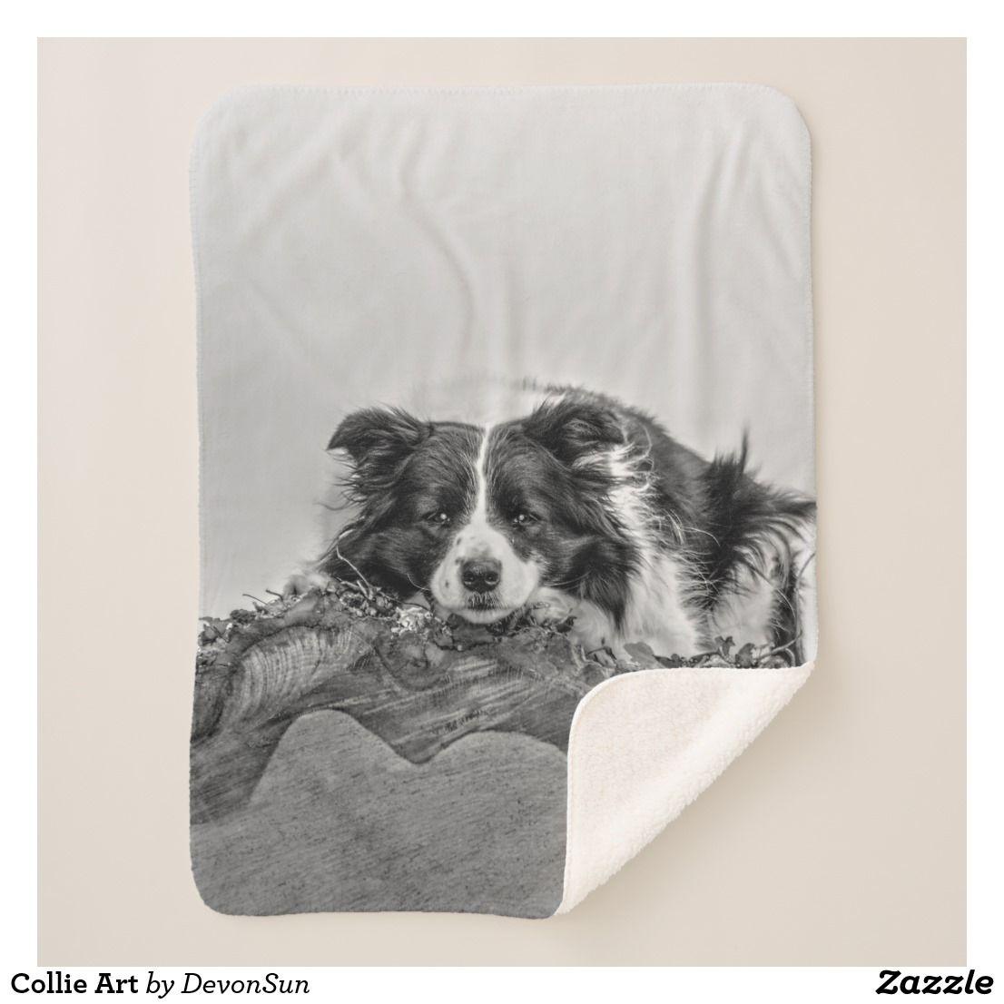 Collie Art Sherpa Blanket Zazzle Co Uk Collie Dog Lovers Blanket