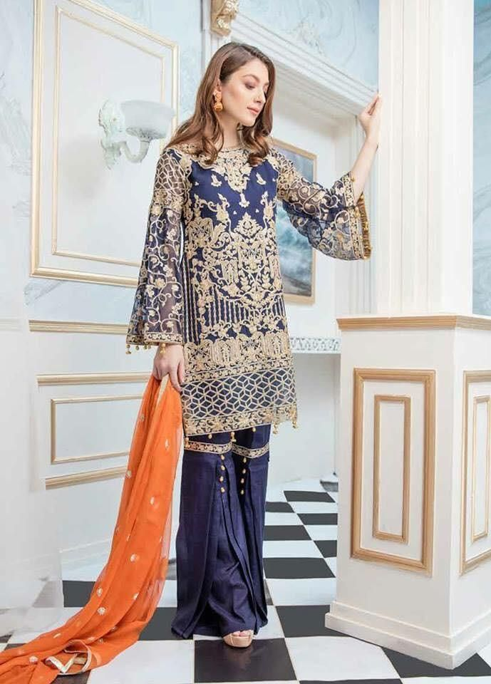 d64d7b6448 Paksitani Designer Party Wear Online - Pakistani Designer Wedding Wear  Online at Nameera by Farooq, Designer Party Wear Suit by Maryum N Maira  Work ...