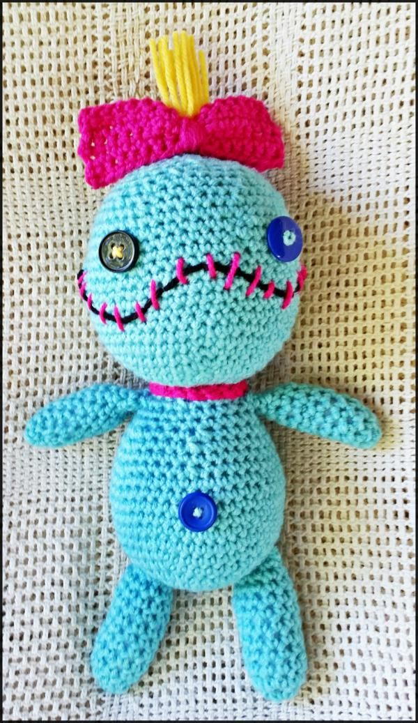 Crocheted Scrump like doll from Lilo and Stitch #scrump #liloandstitch #voodoodoll #stuffeddoll #doll #lilo #crochet