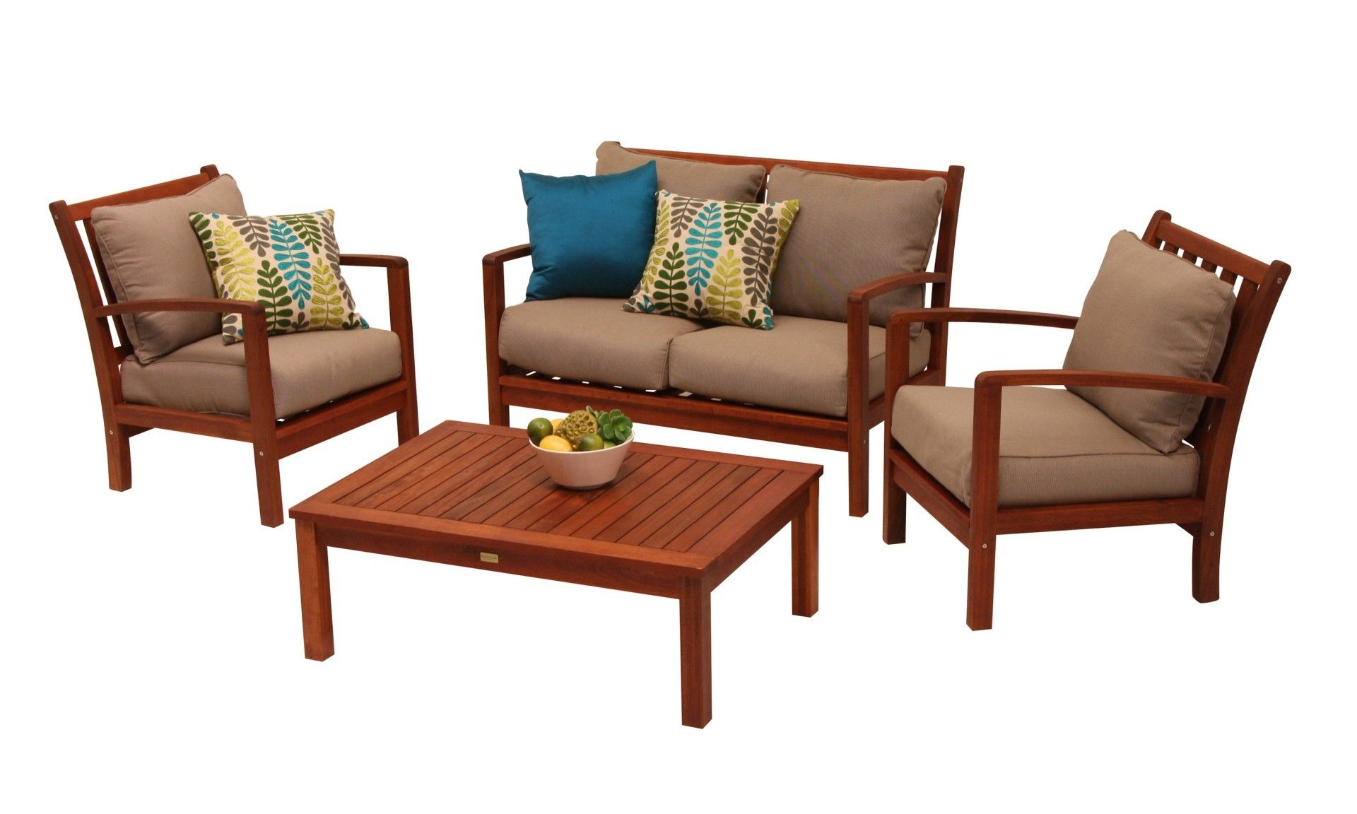 Teak Outdoor Sofa With PC A Grade Teak Wood Outdoor Teakwood Patio