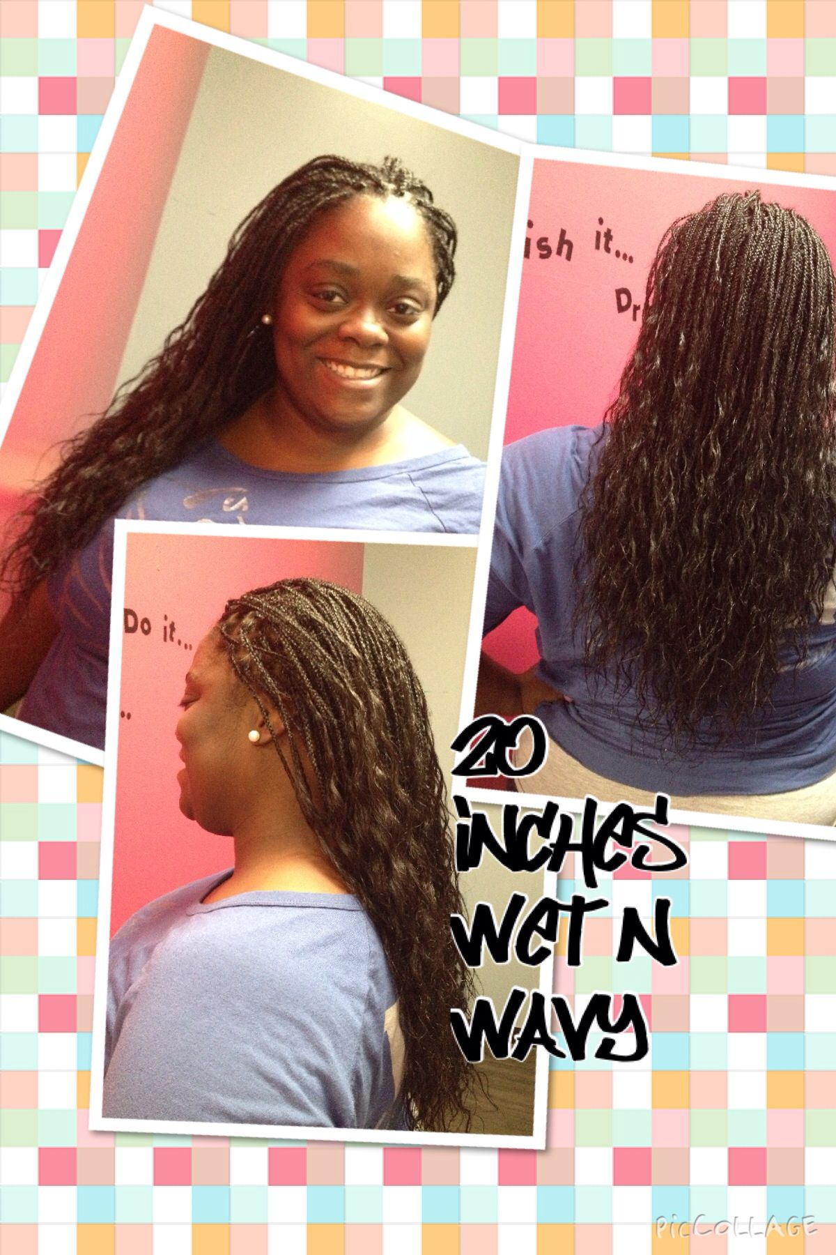 Micro Braids Wet And Wavy Hairstyles