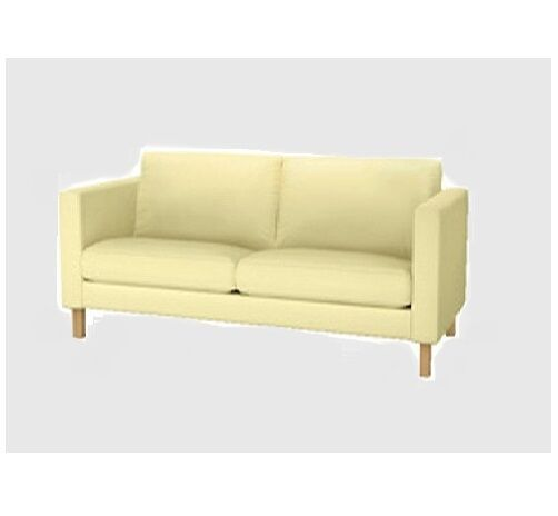 Marvelous Ikea Karlstad 2 Seat Loveseat Sofa Cover Sivik Light Butter Gmtry Best Dining Table And Chair Ideas Images Gmtryco