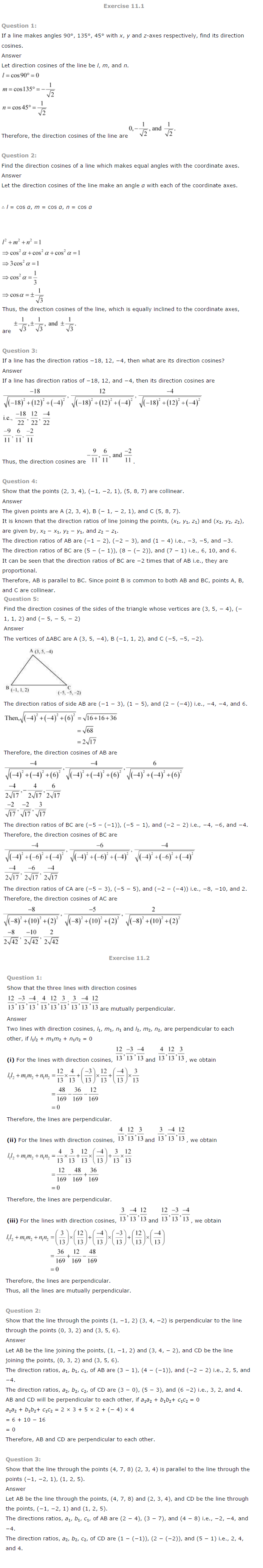 ncert solutions for class 12 maths chapter 11 pdf download