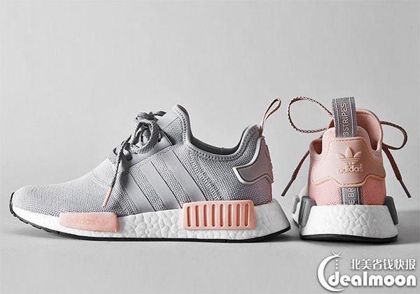 $130!大码补货!速抢! adidas粉灰系列NMD_R1女鞋补货热卖 - 北美省钱快报
