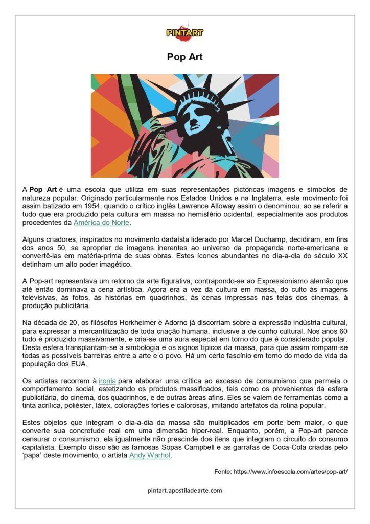 Pintart Oficial Atividades De Arte Arte No Ensino Medio