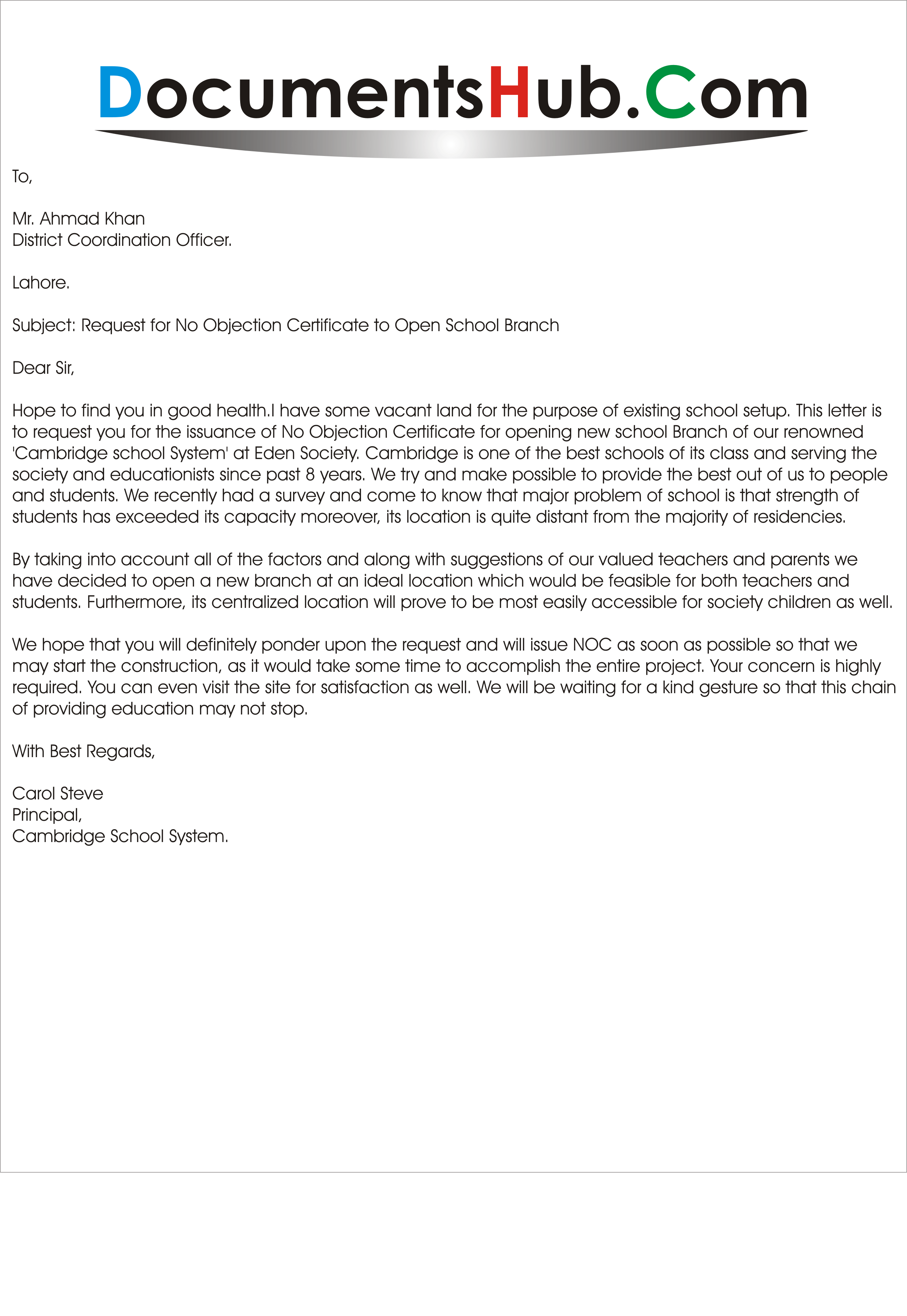 Image result for A sample letter of application for