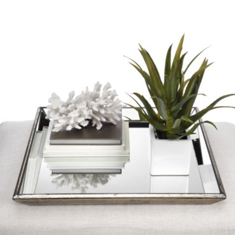 Love The Simplicity Of Arrangement Pascual Mirrored Tray From Z Gallerie