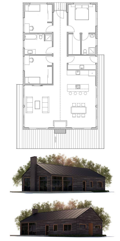 plan de maison Plan petite maison Pinterest Plans de maison - plan petite maison plain pied