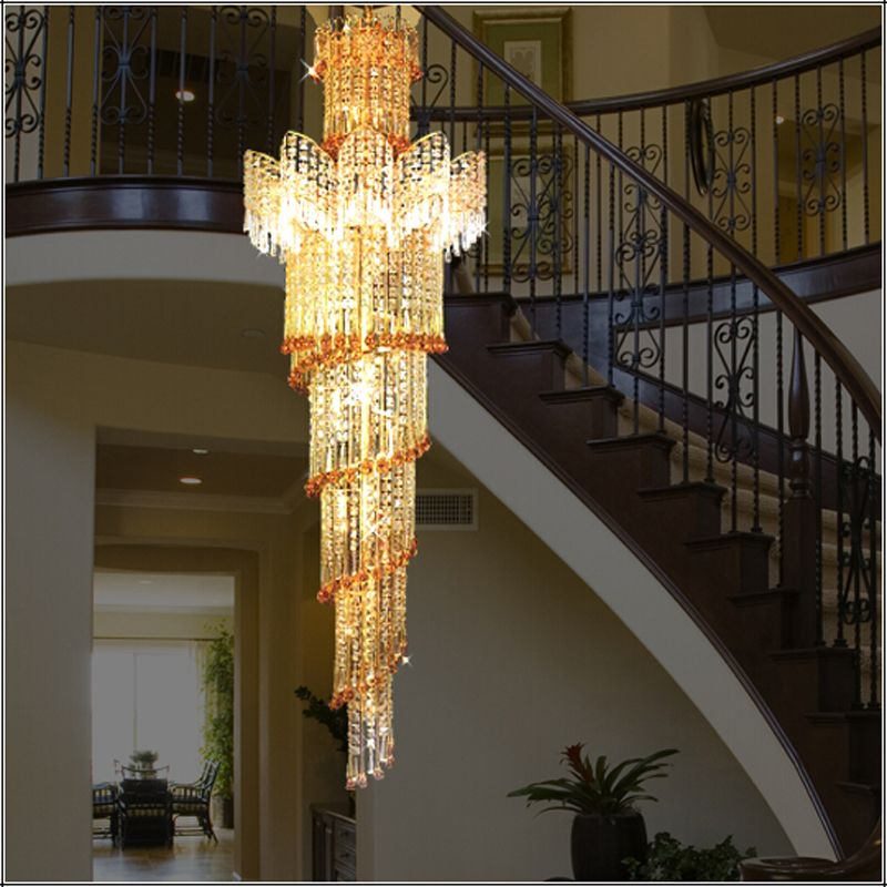 Hotel Decoration Modern Luxury Gold LED Crystal Chandeliers Light Led Ceiling Chandelier Lighting Fixture For Dining