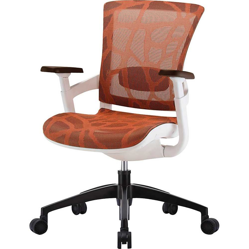 Raynor Skate Ergonomic Mesh Office Chair Adjustable Arms Burnt Orange Ergonomic Chair Chair Mesh Office Chair