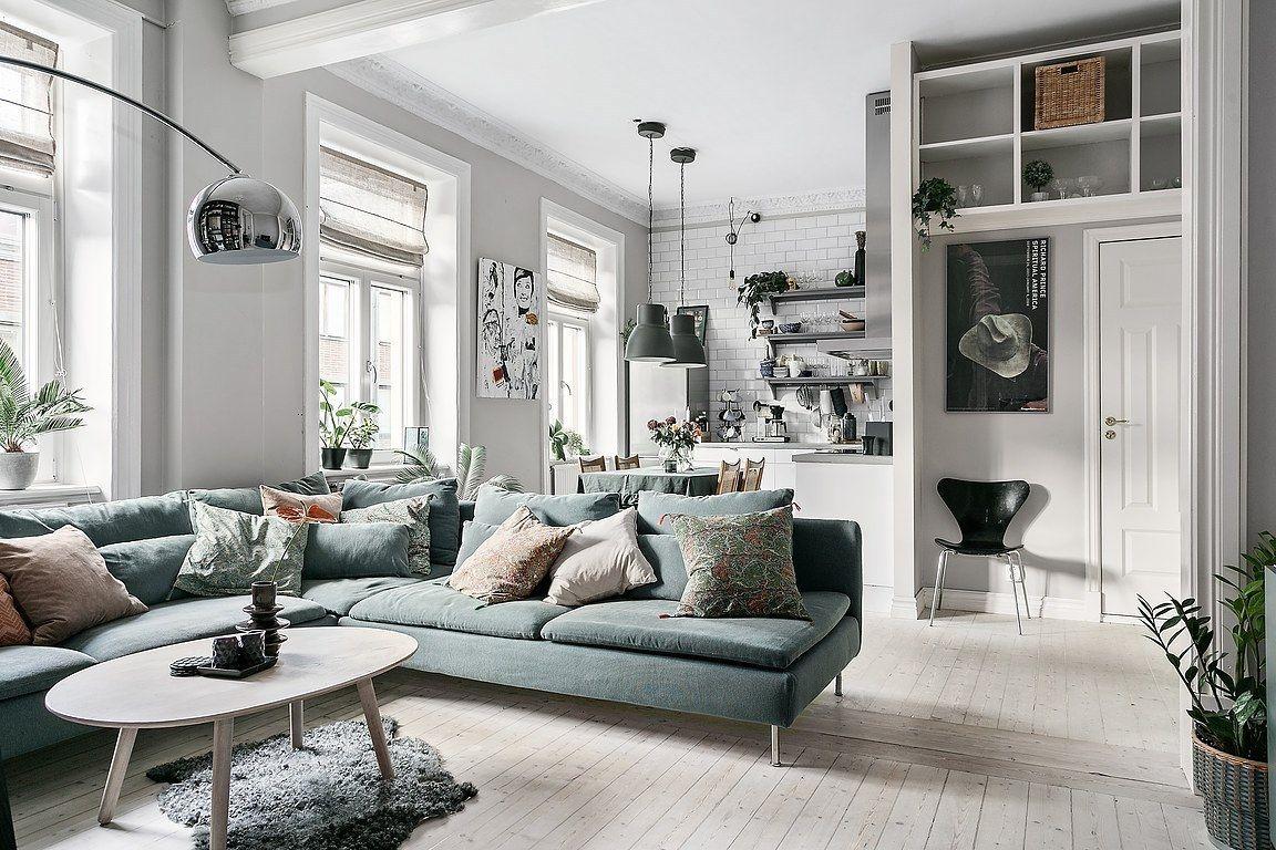 Scandinavian Living Room With Ikea Soderhamn Sofa Living Room Scandinavian Ikea Living Room Open Living Room Design