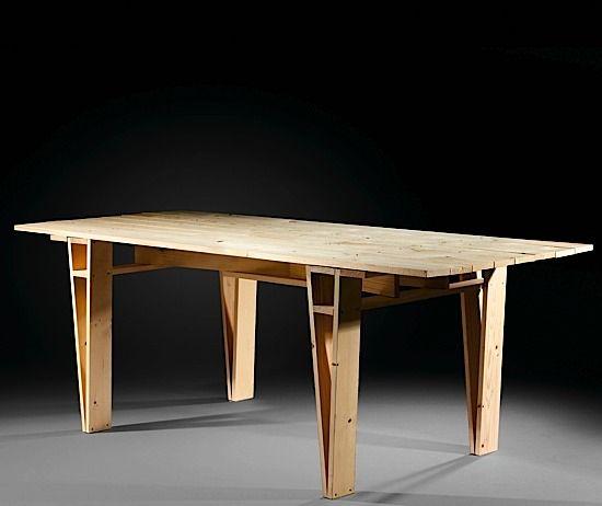 Enzo MARI (Né en 1932) Table D - création 1974 Pin naturel